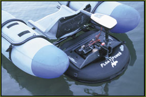 Float tube a moteur